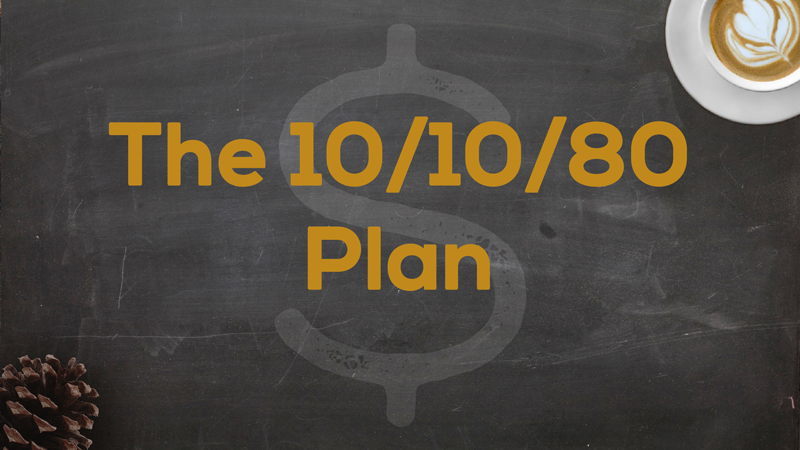 Title Slide for May 27th, 2018, The 10/10/80 Plan